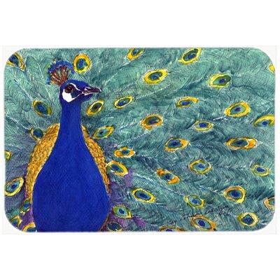 Bird Peacock Kitchen/Bath Mat Size: 24 H x 36 W x 0.25 D