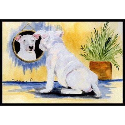 Bull Terrier Doormat Rug Size: 16 x 2 3