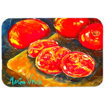 Vegetables Tomatoes Slice It Up Kitchen/Bath Mat Size: 24 H x 36 W x 0.25 D