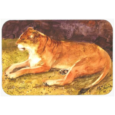Lion Kitchen/Bath Mat Size: 20 H x 30 W x 0.25 D