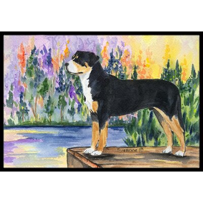 Greater Swiss Mountain Dog Doormat Rug Size: Rectangle 2 x 3