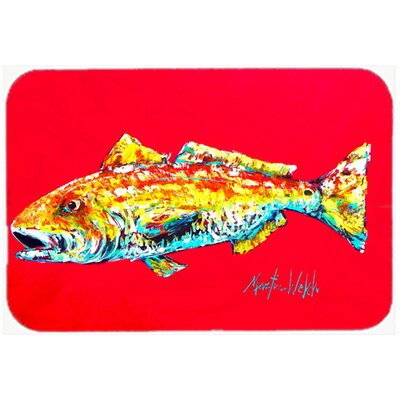 Fish Alphonzo Kitchen/Bath Mat Size: 24 H x 36 W x 0.25 D