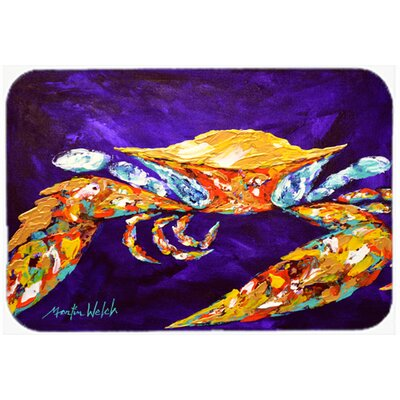 The Right Stuff Crab In Purple Kitchen/Bath Mat Size: 20 H x 30 W x 0.25 D