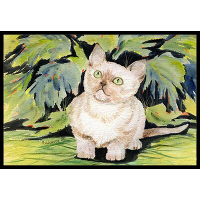Burmese Cat Doormat Rug Size: Rectangle 16 x 2 3