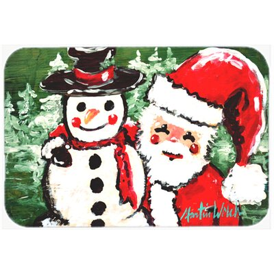 Friends Snowman and Santa Claus Kitchen/Bath Mat Size: 24 H x 36 W x 0.25 D