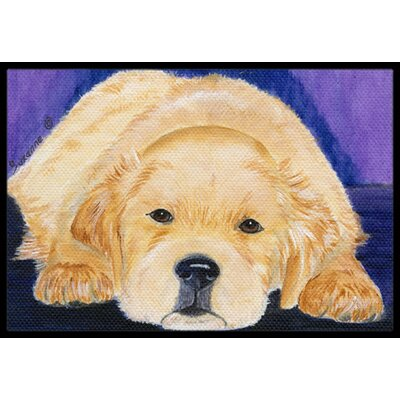 Golden Retriever Doormat Mat Size: Rectangle 16 x 2 3