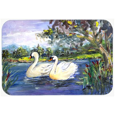 Bird Swan Kitchen/Bath Mat Size: 24 H x 36 W x 0.25 D