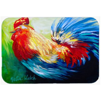 Bird Rooster Chief Big Feathers Kitchen/Bath Mat Size: 24