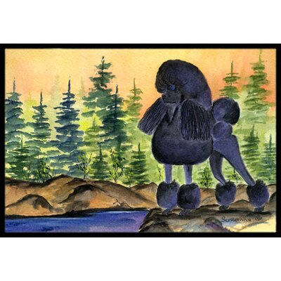Poodle Doormat Mat Size: Rectangle 16 x 2 3