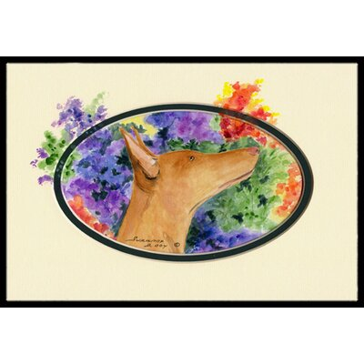 Pharaoh Hound Doormat Mat Size: Rectangle 2 x 3