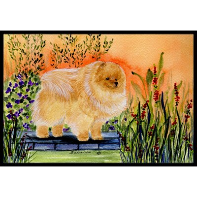 Pomeranian Doormat Mat Size: Rectangle 16 x 2 3