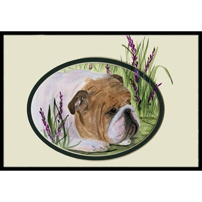 English Bulldog Doormat Rug Size: 2 x 3