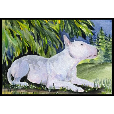 Bull Terrier Doormat Rug Size: Rectangle 16 x 2 3