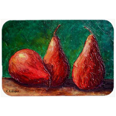 Pears Kitchen/Bath Mat Size: 20 H x 30 W x 0.25 D