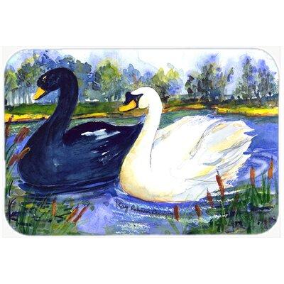 Bird Swan Kitchen/Bath Mat Size: 24 H x 36 W x 0.25 D