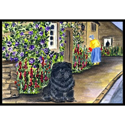 Chow Chow Doormat Rug Size: 2 x 3