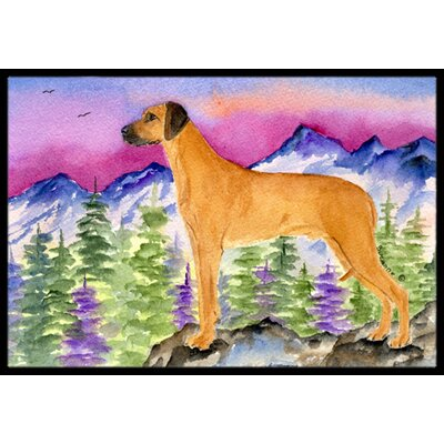 Rhodesian Ridgeback Doormat Rug Size: Rectangle 16 x 2 3