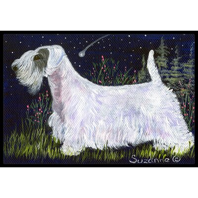 Sealyham Terrier Doormat Rug Size: Rectangle 2 x 3