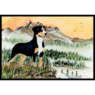Entlebucher Mountain Dog Doormat Rug Size: 2 x 3