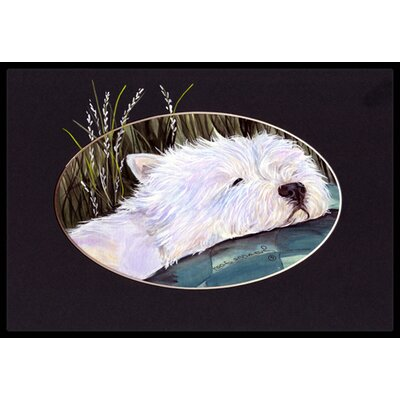 Westie Doormat Rug Size: Rectangle 2 x 3