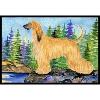 Afghan Hound Doormat Mat Size: Rectangle 16 x 2 3