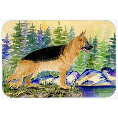 German Shepherd Kitchen/Bath Mat Size: 24 H x 36 W x 0.25 D