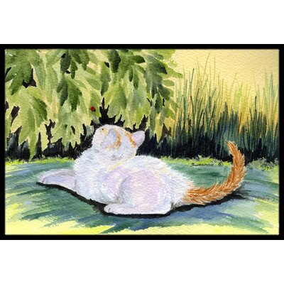 Cat Doormat Mat Size: Rectangle 16 x 2 3
