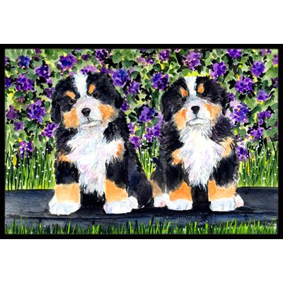 Bernese Mountain Dog Doormat Rug Size: Rectangle 16 x 2 3