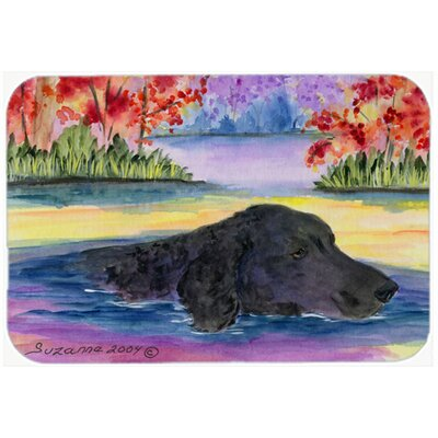 Curly Coated Retriever Kitchen/Bath Mat Size: 24 H x 36 W x 0.25 D
