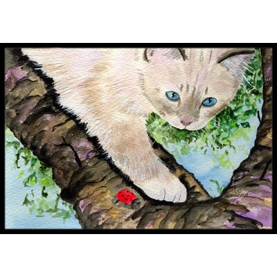 Birman Cat Doormat Rug Size: 2 x 3