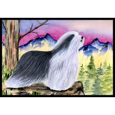 Bearded Collie Doormat Rug Size: 2 x 3