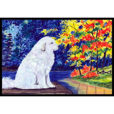 Great Pyrenees Doormat Rug Size: Rectangle 16 x 2 3