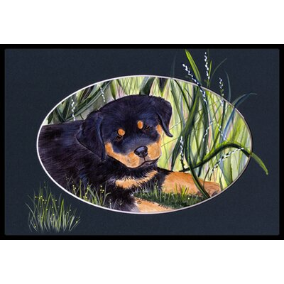 Rottweiler Doormat Rug Size: Rectangle 16 x 2 3