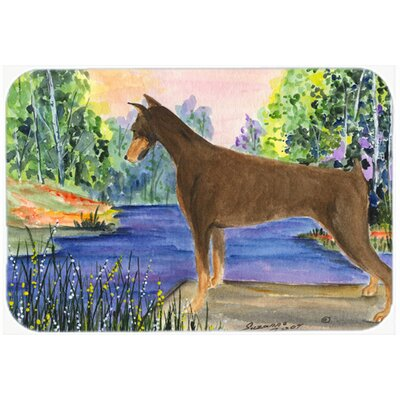Doberman Kitchen/Bath Mat Size: 24 H x 36 W x 0.25 D