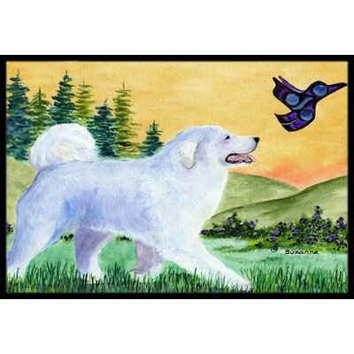 Great Pyrenees Doormat Rug Size: Rectangle 2 x 3