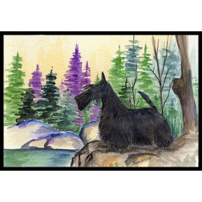 Scottish Terrier Doormat Rug Size: 2 x 3