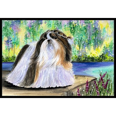 Shih Tzu Doormat Mat Size: Rectangle 2 x 3