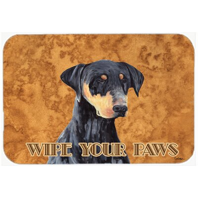 Doberman Kitchen/Bath Mat Size: 20 H x 30 W x 0.25 D
