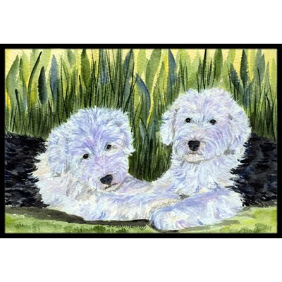 Old English Sheepdog Doormat Mat Size: Rectangle 2 x 3