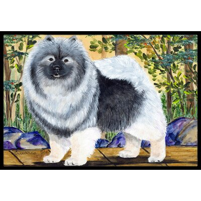 Keeshond Doormat Rug Size: Rectangle 2 x 3