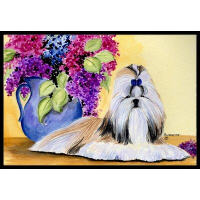 Shih Tzu Doormat Rug Size: Rectangle 16 x 2 3