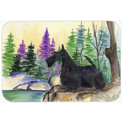 Scottish Terrier Kitchen/Bath Mat Size: 24 H x 36 W x 0.25 D