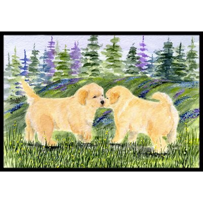 Golden Retriever Doormat Mat Size: Rectangle 2' x 3'