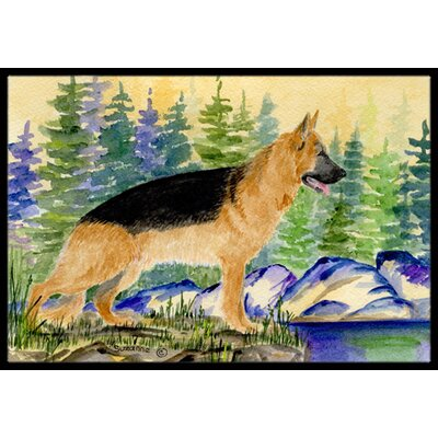 German Shepherd Doormat Rug Size: 2 x 3