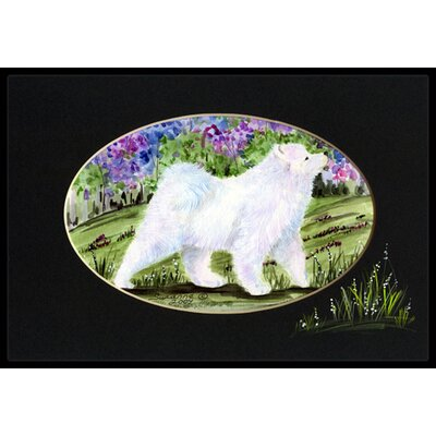 Samoyed Doormat Mat Size: Rectangle 2 x 3