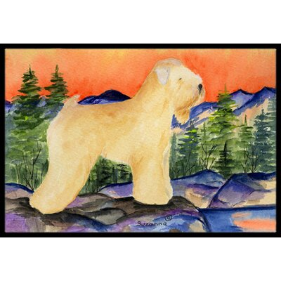 Wheaten Terrier Soft Coated Doormat Mat Size: Rectangle 16 x 2 3