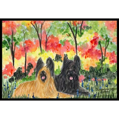 Briard Doormat Rug Size: Rectangle 2 x 3