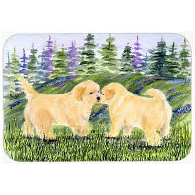 Golden Retriever Kitchen/Bath Mat Size: 20