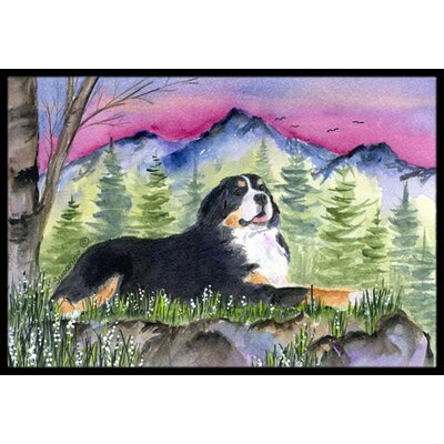 Bernese Mountain Dog Doormat Rug Size: Rectangle 2 x 3