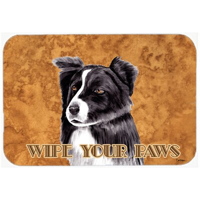 Border Collie Kitchen/Bath Mat Size: 24 H x 36 W x 0.25 D